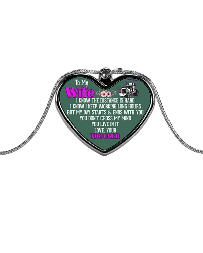 TO MY WIFE - TRUCKER'S WIFE NECKLACE