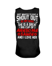 MY WIFE IS A GREAT BIG CUP OF AWESOME SAUCE Unisex Tank thumbnail