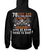 GIVE US ROOM OR IT'S GOING TO HURT Hooded Sweatshirt tile