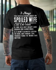 3 THINGS ABOUT MY SPOILED WIFE Classic T-Shirt lifestyle-mens-crewneck-back-3