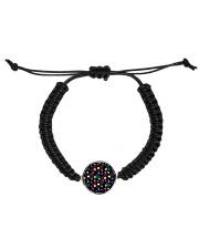 Neon Paisley Flower 406 Vintage Jewelry Cord Circle Bracelet thumbnail