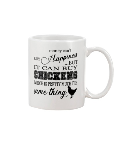 Money can't buy happiness mugs
