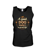 A Good Dog Makes A Great Life Shirt Unisex Tank thumbnail