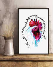 Crazy Chicken Gonna Love You 11x17 Poster lifestyle-poster-3