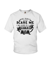I was raised by a chicken mom shirt Youth T-Shirt front