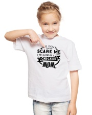 I was raised by a chicken mom shirt Youth T-Shirt lifestyle-youth-tshirt-front-2