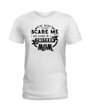 I was raised by a chicken mom shirt Ladies T-Shirt thumbnail