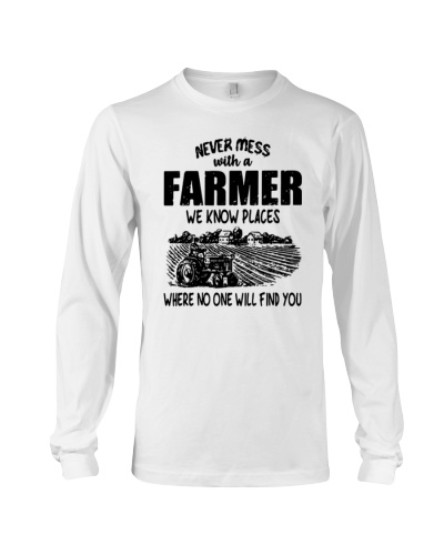 Never Mess With A Farmer Shirt