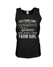 God made farm girl shirt Unisex Tank thumbnail