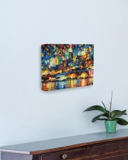 102 SOLD: VALLETTA PAINTING PANORAMIC VIEW  14x11 Gallery Wrapped Canvas Prints aos-canvas-pgw-14x11-lifestyle-front-01