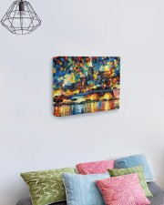 102 SOLD: VALLETTA PAINTING PANORAMIC VIEW  14x11 Gallery Wrapped Canvas Prints aos-canvas-pgw-14x11-lifestyle-front-02