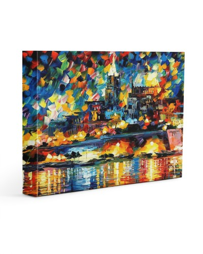 102 SOLD: VALLETTA PAINTING PANORAMIC VIEW