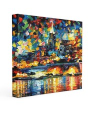 102 SOLD: VALLETTA PAINTING PANORAMIC VIEW  16x16 Gallery Wrapped Canvas Prints thumbnail