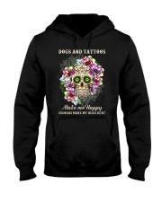 Dogs and tatoos make me happy Hooded Sweatshirt thumbnail