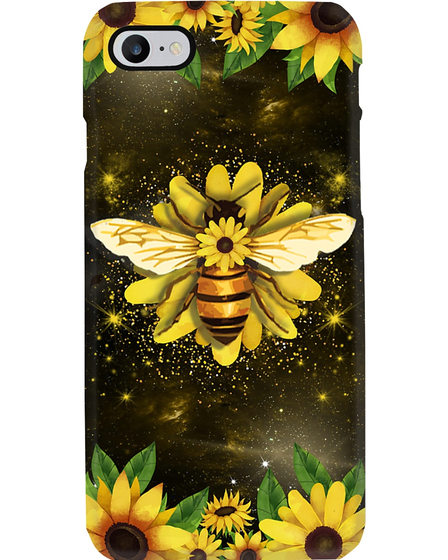 Phonecase with beautiful bee and sunflowers Phone Case