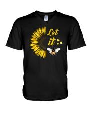 Sunflower - let it be V-Neck T-Shirt thumbnail