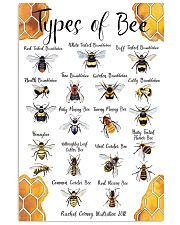 Poster types of bee 11x17 Poster front