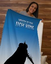 "ALL-OVER PRINT VER 3-  LICH KING Sherpa Fleece Blanket - 50"" x 60"" aos-sherpa-fleece-blanket-50x60-lifestyle-front-09b"