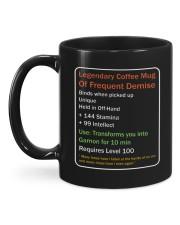 LEGENDARY COFFEE MUG OF FREQUENT DEMISE Mug back