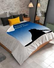 "ALL-OVER PRINT VER 4-  LICH KING Sherpa Fleece Blanket - 50"" x 60"" aos-sherpa-fleece-blanket-lifestyle-front-02"