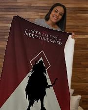"""ALL-OVER PRINT VER 4 - SYLVANAS Sherpa Fleece Blanket - 50"""" x 60"""" aos-sherpa-fleece-blanket-50x60-lifestyle-front-09b"""