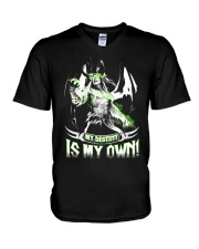 MY DESTINY IS MY OWN V-Neck T-Shirt tile