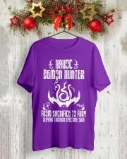 HAVOC DEMON HUNTER Classic T-Shirt lifestyle-holiday-crewneck-front-2
