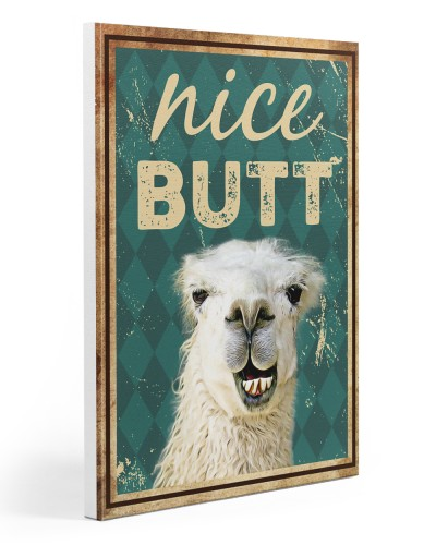 Llama Nice butt canvas