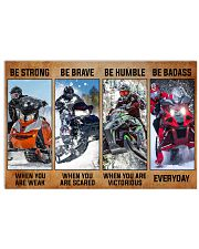 Sledding be strong poster 36x24 Poster front