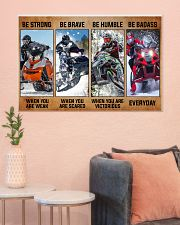 Sledding be strong poster 36x24 Poster poster-landscape-36x24-lifestyle-18