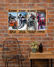 Sledding be strong poster 36x24 Poster poster-landscape-36x24-lifestyle-20