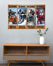 Sledding be strong poster 36x24 Poster poster-landscape-36x24-lifestyle-21