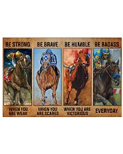 be strong horse racing 36x24 Poster front