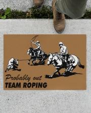 """Team Roping Doormat 34"""" x 23"""" aos-doormat-34-x-23-lifestyle-front-01"""