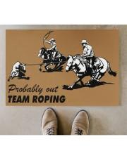 """Team Roping Doormat 34"""" x 23"""" aos-doormat-34-x-23-lifestyle-front-04"""