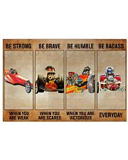 Be Strong Drag Racing 36x24 Poster front