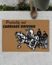 "CARRIAGE DRIVING Doormat 34"" x 23"" aos-doormat-34-x-23-lifestyle-front-01"