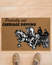 "CARRIAGE DRIVING Doormat 34"" x 23"" aos-doormat-34-x-23-lifestyle-front-02"