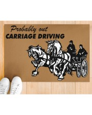 "CARRIAGE DRIVING Doormat 34"" x 23"" aos-doormat-34-x-23-lifestyle-front-03"