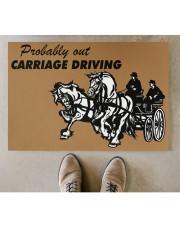 "CARRIAGE DRIVING Doormat 34"" x 23"" aos-doormat-34-x-23-lifestyle-front-04"