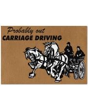 "CARRIAGE DRIVING Doormat 34"" x 23"" front"