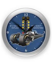 Drag Racing clock 1 Wall Clock front