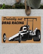 """Drag Racing Doormat Doormat 34"""" x 23"""" aos-doormat-34-x-23-lifestyle-front-01"""