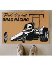 """Drag Racing Doormat Doormat 34"""" x 23"""" aos-doormat-34-x-23-lifestyle-front-04"""