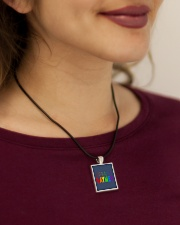 Gaymer  Cord Rectangle Necklace aos-necklace-square-cord-lifestyle-1