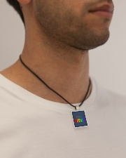 Gaymer  Cord Rectangle Necklace aos-necklace-square-cord-lifestyle-2