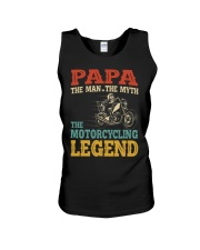 Papa The Man The Myth The Motorcycling Legend Unisex Tank tile