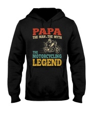 Papa The Man The Myth The Motorcycling Legend Hooded Sweatshirt tile