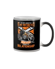 Papa The Man The Myth The Motorcycling Legend Color Changing Mug tile