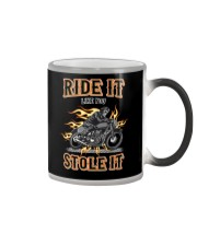 Ride It Like You Stole It Color Changing Mug tile